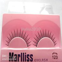 Wholesale 50 pairs Natural LONG FALSE EYELASHES mm FREE GLUE BRAND NEW We accept mix order and sample