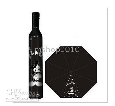 mini wine bottles - 10pcs Just Arrival Bottle Umbrellas FASHION WINE BOTTLE STYLE FOLDING UMBRELLA MINI FLOWER BS3