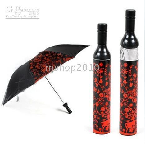 mini wine bottles - 10pcs Just Arrival Bottle Umbrellas FASHION WINE BOTTLE STYLE FOLDING UMBRELLA MINI FLOWER BS4