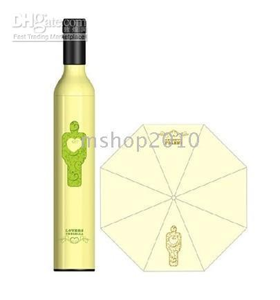 flower umbrella - 10pcs Just Arrival Bottle Umbrellas FASHION WINE BOTTLE STYLE FOLDING UMBRELLA MINI FLOWER BS6