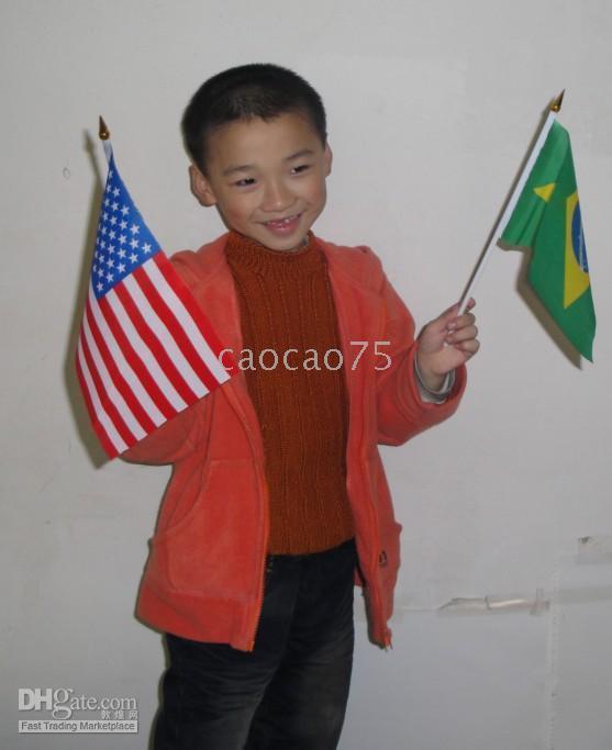 Wholesale New cm hand flag waver flag flag waver flag mix order psc