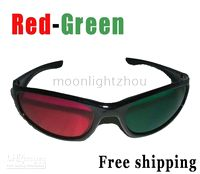 Wholesale 50 D Glasses Red green For Video DVD Movie amp Game movies