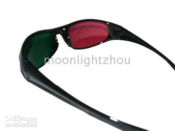 Wholesale 50 D Glasses Red green For Video DVD Movie Game movies