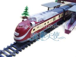 5pcs 9.4 meters building blocks set electric train toy