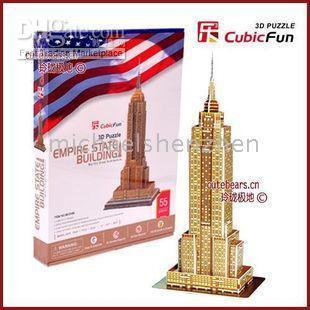 3d puzzles - 3D D Puzzle games cube jigsaw Empire State Building Puzzle
