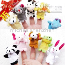 Wholesale Christmas Finger Puppets Story - CUTE Baby Toy Hand finger puppet story-telling props toys 10styles set