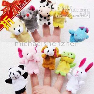 Wholesale CUTE Baby Toy Hand finger puppet story telling props toys styles set