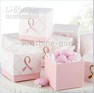 Wholesale 100pcs wedding bridal party favor candy gift box pink