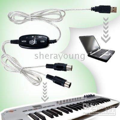 Wholesale Computer USB to MIDI Keyboard Interface Converter Cable Adapter
