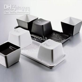 Wholesale Keyboard Cup Mark Cup Coffee Cup Set of with Rack Ctrl Del Alt Cute Gift Home Decoration