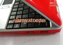 2PC*Wholesale-Red color 7 inch Mini Netbook Laptop Notebook 2GB WIFI windows ce 6.0 Android4.0 Netbook PC