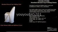 Wedding Chair standard size 100% Polyester standard folding chair cover for wedding,party,hotel...