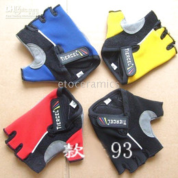 50pcs Lots New PRO Cycling Cycle Bike Fingerless Gloves with Gel NEW Tiercel BXY002 Free shipping