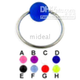 Wholesale 100pcs Body piercing jewelry ring with ball for navel lip tongue