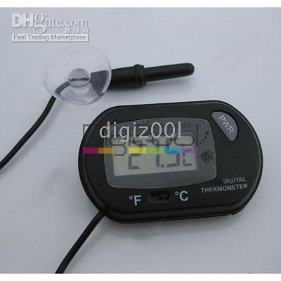 Wholesale Digital LCD Aquarium Fish Tank Marine Water Thermometer mini new hot