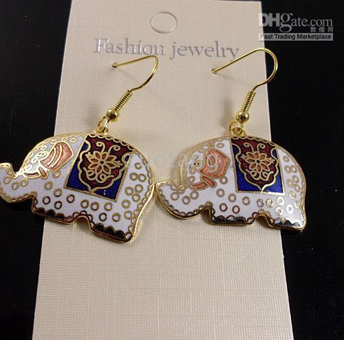 Wholesale Lucky Animal Earring Special Earring Best Earring Chinese Cloisonne Lady Earrings pair mix Free