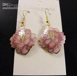 Flower Earring New Design Earring Fashion Eardrop Personality Cloisonne Earrings 30 Pair mix Free