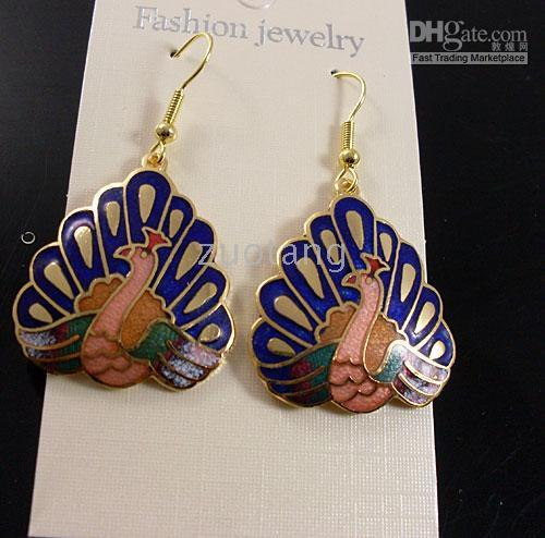 Wholesale Best Animal Earring Fashion Lady Earring Hot Dangler Personality Cloisonne Earrings pair mix Free
