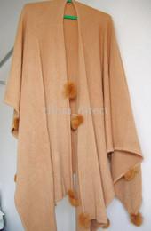 Rabbit fur ball fringed Scarves ponchos scarf shawl pashmina wraps shawls 5pcs lot new
