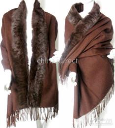 Rabbit Fur pashmina Shawl Cashmere scarf shawl cape wraps shawls poncho 7pcs lot THICK