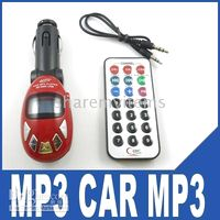 Wholesale Red CAR MP3 FM TRANSMITTER PLAYER MODULATOR USB SD MMC
