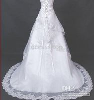 Wholesale quickly selling lace Embroider Bridal wedding gown all size color free