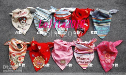 free gift+ baby bib baby cotton Triangle Bibs waterproof saliva towel bib,sealed from factory 50pcs