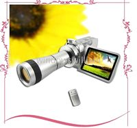 Wholesale 1PCS Camcorders DV T digital vide Camera with Telescope Zoom Lens digital camcorder DV DVC PC