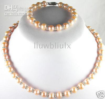 Wholesale 8 MM pearl Jewelry charming pearls necklace inches bracelet7 inches