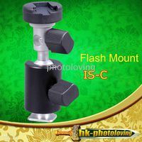 Wholesale 10pcs Swivel ISHOOT IS C Multifunction Ball Head Flash Mount Bracket with umbrella Holder