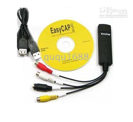 Acheter Vidéos modifier-# Selling par 10pcs / lot USB 2.0 Vidéo Audio Capture Modifier TV Adapter Card Vista PC30