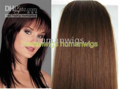 Wholesale 20 quot set clip in hair remy human hair extensions hair extension g set set mix order