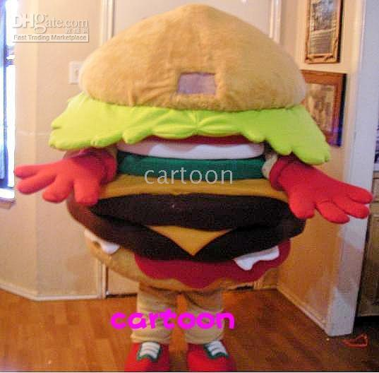 Wholesale HAMBURGER Mascot costume Adult Size Free S H