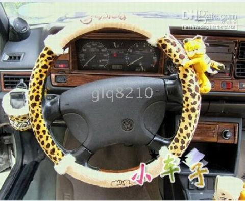 best car wheels - BEST SELLER Genuine Garfield Leopard series wheel cover cartoon car steering wheel cover
