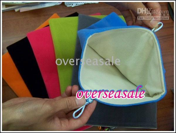 Wholesale Ipad protective bag colorful cotton soft cloth pouch sleeve for notebook PC inch