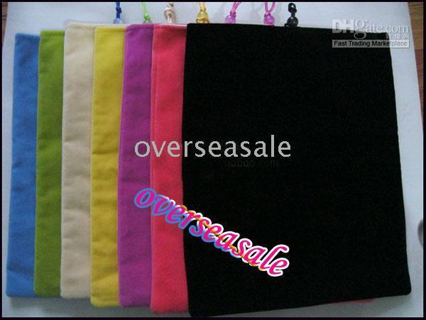 apple notebook sleeve - colorful cotton soft lint cloth bag pouch sleeve case for apple Ipad notebook PC inch