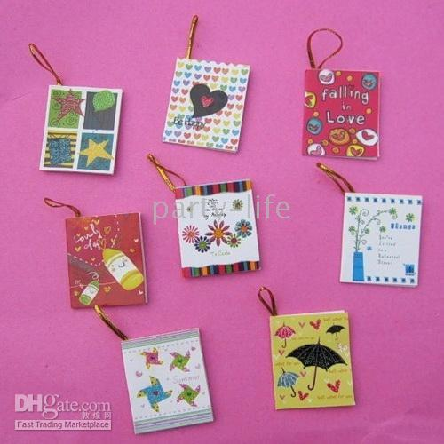 Wholesale Korean Style cute Greeting Cards Mini Greeting Cards Gift Cards with string
