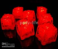 Red Ice Cube LED light For Party Wedding Bar Christmas 120pc...