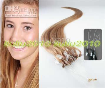 Wholesale 200S quot Remy Loop Micro Ring Hair Extensions hair extension g stand mix order