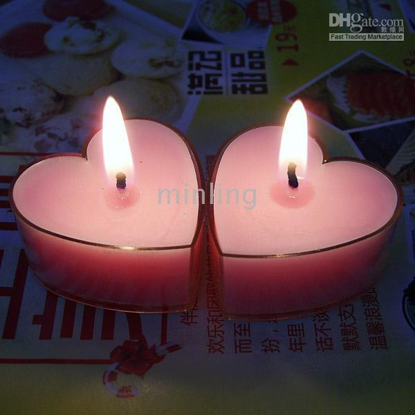 Wholesale Wedding Decorations Heart Shape Wedding Candles Valentines Day necessities Wedding Favors Pink