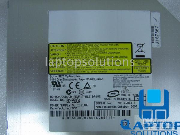 Wholesale NEW BC A BC5500A Optical Blu Ray BD ROM DVD RW Laptop Drive blu ray player