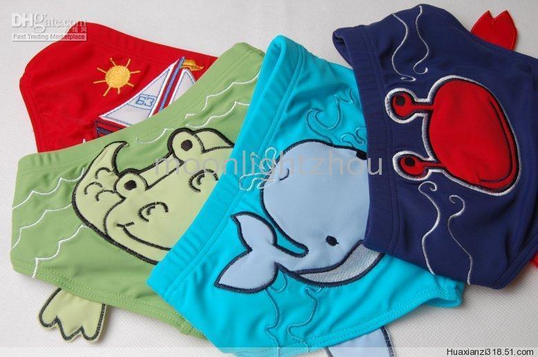 Cheap boys' swim pants Swimwear Kids' baby toddler Triangle shorts trunks red green 2010 NEW 24pcs lot