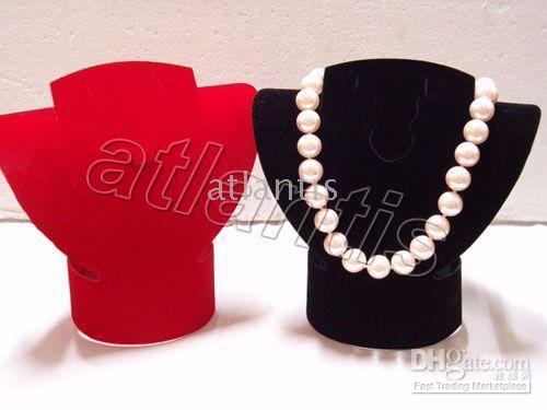 Wholesale New Frosted Velvet Necklace Earring Bracelet Jewelry Display in stock picees