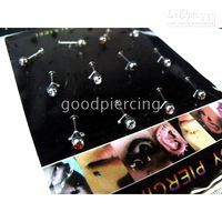 Wholesale Body jewelry rhinestone lip jewelry lip piercing lip ring mixed colors a