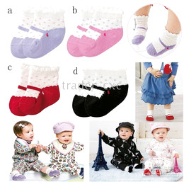 Wholesale Children s Socks baby socks baby short socks infant sock COMBI colors baby anklet FF26