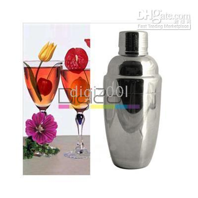 Wholesale 550ml Stainless Steel Cocktail Shaker Party Bar Drink Jigger Mixer New Hot