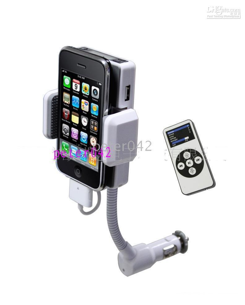 Wholesale 10pcs iphone ipod transmitter car FM transmitter hands free
