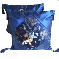 Wholesale Car Pillow Cover Cushion Cover With Silk Flower Sumptuous Home Sofa Cushion Sets
