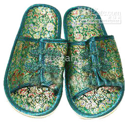 Embroider Indoor Slippers Hotel Slipper Men Slippers Silk Flower House Slipper 10 pair mix Free