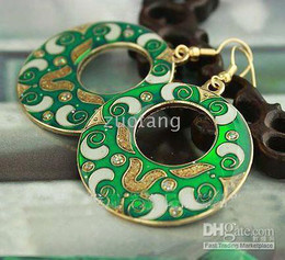 Women's Cheap Earring Round Earring Hot Sell Earring Charm Eardrop Cloisonne Jewelry 30pair mix Free